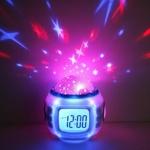 Ночник Проектор звездного неба с часами UI-1038 Код20738